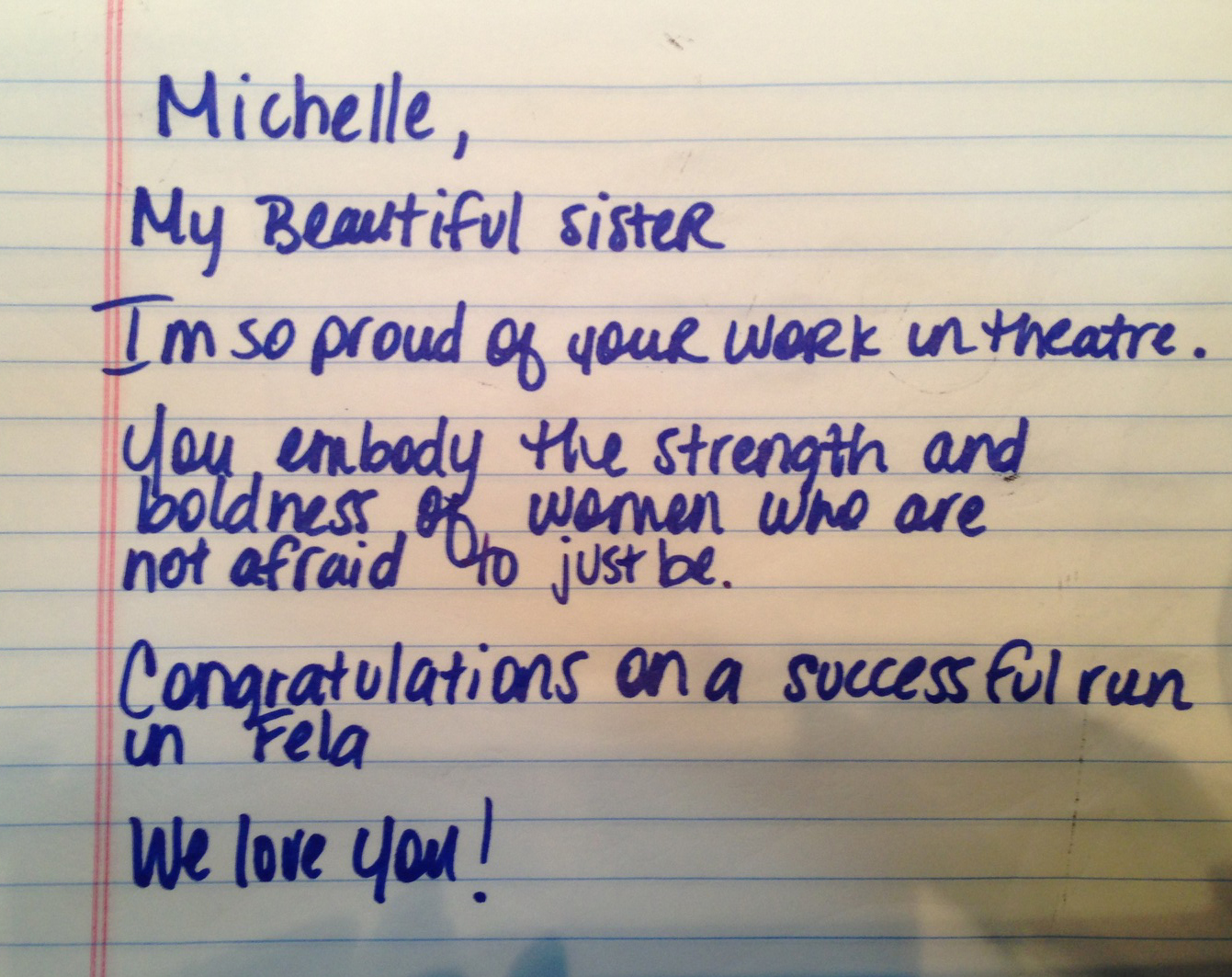 Lovely letter from Beyonce to Michelle Williams